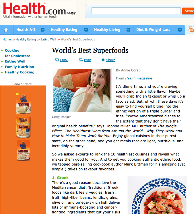 Health.com says 'Greek' is #1 World's Best Superfoods