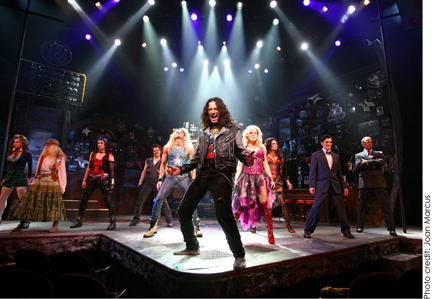 Constantine Maroulis, onstage, Broadway play, show, Rock of Ages