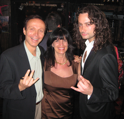 james stathis, cynthia daddona, constatine maroulis, rock of ages, backstage
