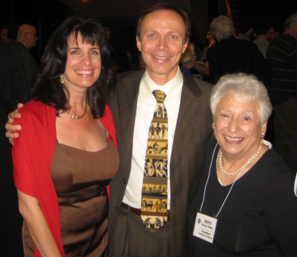 Greek Heritage Society of Southern California's (GHS) President, Zoye Marino Fidler (r)  with CelebrateGreece.com's Cynthia Daddona & Dr. James Stathis.  The GHS produced the documentary The Promise of Tomorrow: 1940-1960, the second installment in a trilogy of documentaries documenting the Greek-Americans of Southern California.